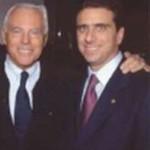 con Giorgio Armani