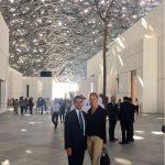 con Ludmilla Voronkina al Louvre Museum di Abu Dhabi
