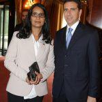 con il Console degli Emirati Arabi Uniti a Milano Sig.ra Noora Mohammed A. Juma