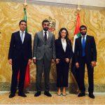 con il Console Generale degli Emirati Arabi Uniti a Milano, H.E. Abdallah Al Shamsi, presso l'Ambasciata degli Emirati Arabi Uniti a Roma in occasione del Festival della Diplomazia
