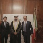 con il Console Generale degli Emirati Arabi Uniti a Milano, H.E. Abdallah Al Shamsi ed Ernesto Mauri,  in occasione dell'evento di celebrazione del 46° National Day degli EAU