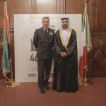 con il Console Generale degli Emirati Arabi Uniti a Milano, H.E. Abdallah Al Shamsi e il Gen. Silvano Frigerio,  in occasione dell'evento di celebrazione del 46° National Day degli EAU