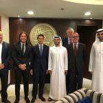 con Mister Ahmed Al Serkaal e Mister Mohammed Al Kaabi