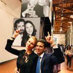 con Ludmilla Voronkina all'inaugurazione della mostra di Bob Krieger