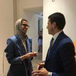 con HE Noura Al Kaabi UAE Minister of Culture