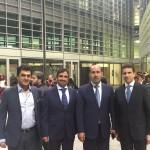 con Al Raisi, Al Ghurair e Sheikh Awad