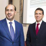 con l'Ambasciatore degli Emirati Arabi Uniti H.E. Saqr Nasser Alraisi