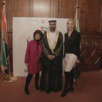 con il Console Generale degli Emirati Arabi Uniti a Milano, H.E. Abdallah Al Shamsi, Lidia Cardinale e Ludmilla Voronkina,  in occasione dell'evento di celebrazione del 46° National Day degli EAU