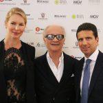 """con Ludmilla Bozzetti e Bob Krieger presso il Serrone della Villa Reale di Monza per la presentazione della mostra """"Sguardi"""""""