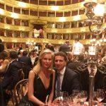 con Ludmilla Voronkina alla cena organizzata dalla Fondazione Veronesi