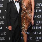con Ludmilla Voronkina alla serata Vogue Tribute to Mina