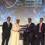 """Con lo Sceicco Awad Mohammad Bin Mejren, ideatore e fondatore del """"Dubai Travelers' Festival"""" e con Abdalla Al Shamsi, Console generale degli EAU"""