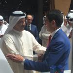 con Sultan Al Mansouri Ministro dello Sviluppo Economico degli Emirati