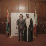con il Console Generale degli Emirati Arabi Uniti a Milano, H.E. Abdallah Al Shamsi e Giulio Di Sabato,  in occasione dell'evento di celebrazione del 46° National Day degli EAU