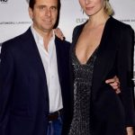 con Ludmilla Voronkina - evento Uomo Vogue e Lamborghini - Milano Fashion Week