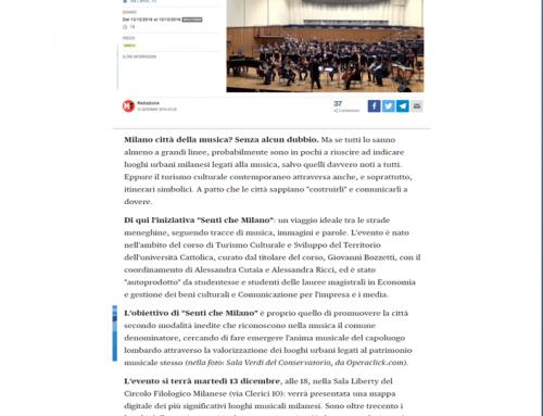 Senti che Milano: itinerari di turismo urbano sulla musica