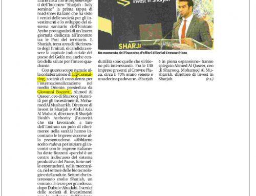 """Sharjah, l'Emirato """"a caccia"""" di piccole imprese padovane"""