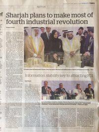 20.09.17 - Khaleej Times - Sharjah FDI Forum 2017