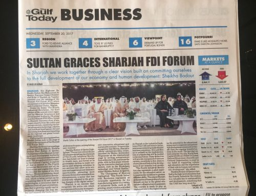 Sultan graces sharjah FDI forum