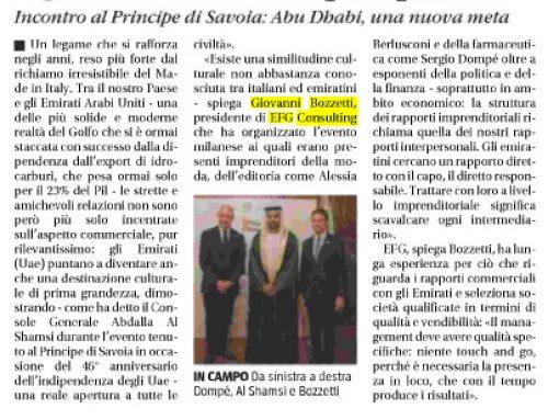 Tra Milano e gli Emirati Arabi Uniti legami culturali (sempre) più forti