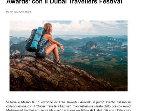A Milano la 1^ edizione del 'Free Travelers Awards' con il Dubai Travellers Festival