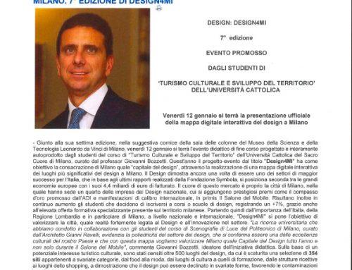 Milano, settima edizione di design4mi