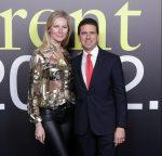 con Ludmilla Voronkina alla presentazione Moncler Genius durante la Milan Fashion Week 2019