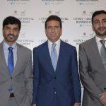 con Khalifa Al Rayssi del Ministro degli esteri e Ali Al Nuaimi Capo sezione economica dell'ambasciata degli Emirati