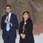 con Lidia Cardinale presentando la nuova collezione di Lidia Cardinale Couture