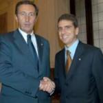 Con Gianfranco Fini