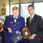 con il Capitano della Polizia di Melbourne