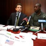 """Conferenza stampa """"Una corsa per la vita"""" - New York - con Clarence Seedorf"""