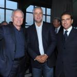 con Roberto Formigoni e Santo Versace