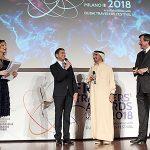 """Con lo Sceicco Awad Mohammad Bin Mejren, ideatore e fondatore del """"Dubai Travelers' Festival"""" e Fiorenzo Galli, Direttore Generale del Museo della Scienza e della Tecnologia Leonardo Da Vinci"""