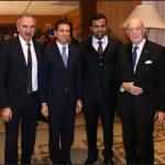 con Carlo Capasa, HE Abdalla Alshamsi e Mario Boselli