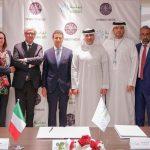 con HE Khaled Al Huraimel, HE Liborio Stellino, HE Valentina Setta, Fahad Shehail