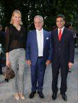 con Walter Albini e Ludmila Voronkina