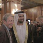 con il Console Generale degli Emirati Arabi Uniti a Milano, H.E. Abdallah Al Shamsi e Dante Benini,  in occasione dell'evento di celebrazione del 46° National Day degli EAU