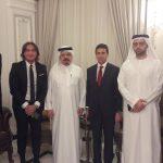 Incontro con HE Ali Shorafa and HE Ahmed Shorafa nella loro Majilis