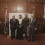 con il Console Generale degli Emirati Arabi Uniti a Milano, H.E. Abdallah Al Shamsi, Mario Boselli e Laura Morino,  in occasione dell'evento di celebrazione del 46° National Day degli EAU