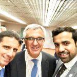 con l'ambasciatore italiano negli Emirati Arabi Uniti Liborio Stellino e il Console Abdalla Al Shamsi