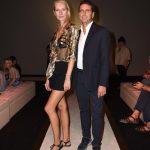 con Ludmilla Voronkina durante la Milan fashion week