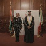 con il Console Generale degli Emirati Arabi Uniti a Milano, H.E. Abdallah Al Shamsi e Alessia Berlusconi,  in occasione dell'evento di celebrazione del 46° National Day degli EAU