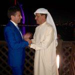 con il ministro dell'Economia degli EAU Sultan Al Mansoori