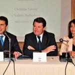 con Christian Estrosi e Valerie Hoffenberg