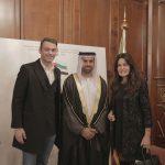 con il Console Generale degli Emirati Arabi Uniti a Milano, H.E. Abdallah Al Shamsi e Cristina Ferrari,  in occasione dell'evento di celebrazione del 46° National Day degli EAU