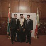 con il Console Generale degli Emirati Arabi Uniti a Milano, H.E. Abdallah Al Shamsi ed Edoardo Caovilla,  in occasione dell'evento di celebrazione del 46° National Day degli EAU