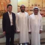 ad Abu Dhabi con H.E. Taher ed il figlio Saeed