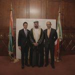 con il Console Generale degli Emirati Arabi Uniti a Milano, H.E. Abdallah Al Shamsi e Paolo Ligresti,  in occasione dell'evento di celebrazione del 46° National Day degli EAU
