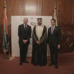 con il Console Generale degli Emirati Arabi Uniti a Milano, H.E. Abdallah Al Shamsi e Sergio Dompè,  in occasione dell'evento di celebrazione del 46° National Day degli EAU